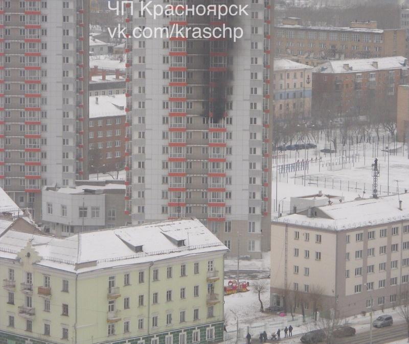 ВКрасноярске студентов эвакуировали изобщежития из-за пожара