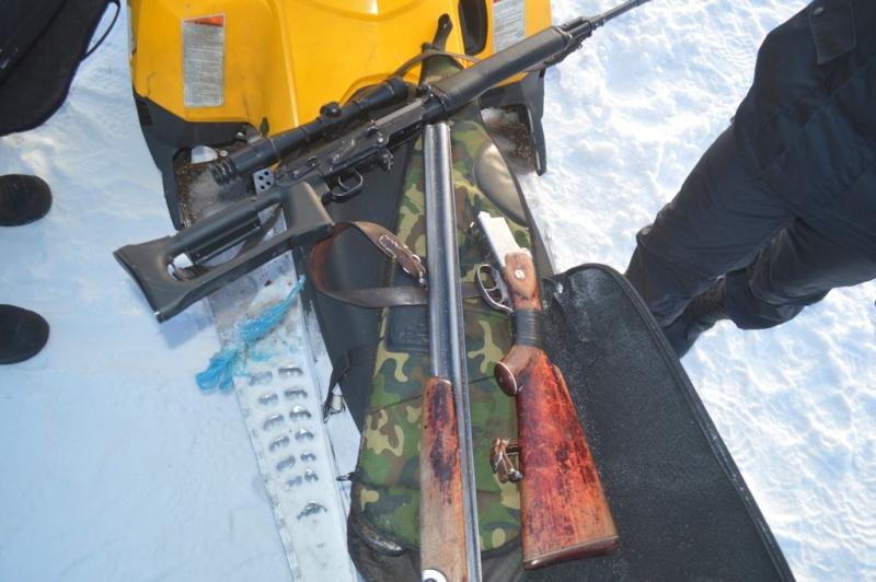 ВКрасноярском крае убраконьера изъяли три охотничьих ружья