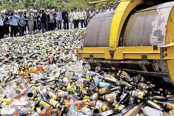 ВКрасноярске уничтожат восемь тыс. бутылок элитного спиртного