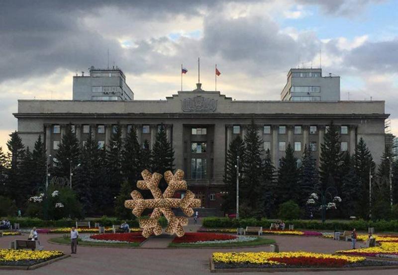 Художник Василий Слонов установит вКрасноярске картофельную снежинку