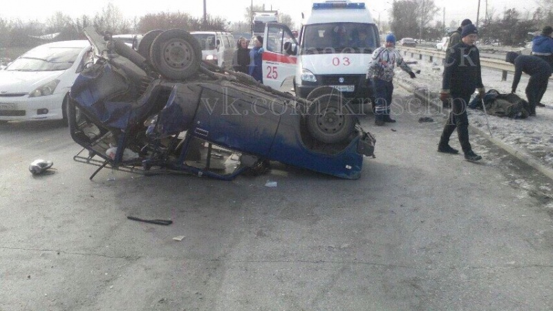 Ужасное ДТП вКрасноярске: два человека были привезены в поликлинику