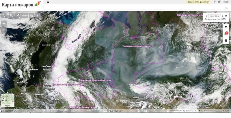 Пожары вКрасноярском крае задымили 12 регионов