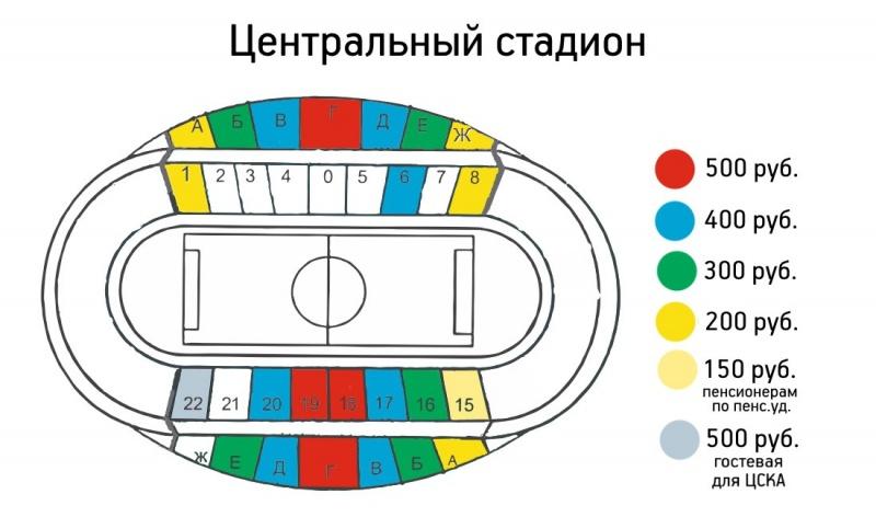 Старт продажи билетов наматч «Енисей»— ЦСКА