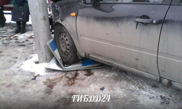Автоледи вцентре Красноярска вытолкнула «Ладу» востановку, есть пострадавшие