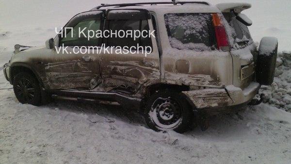 ДТП под Красноярском сучастием 5 машин заснял видео регистратор
