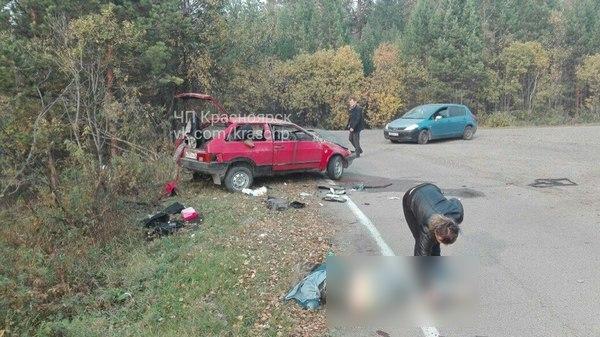 Под Лесосибирском вДТП разбилась семья, умер мужчина